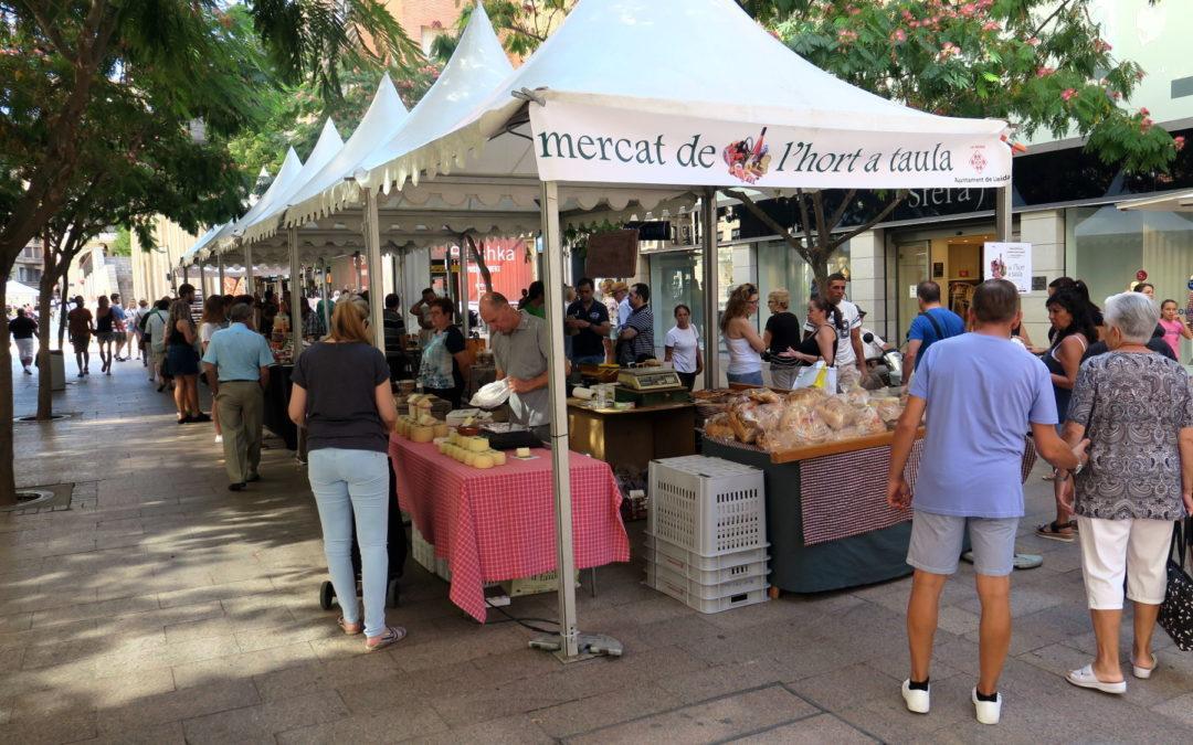 El Mercat de l'Hort torna demà dissabte a la plaça de Sant Joan