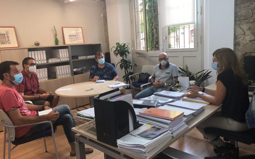 Campos es reuneix amb el Comitè d'Empresa per tractar sobre la continuïtat del personal contractat per mitjà de programes ocupacionals a l'IMO