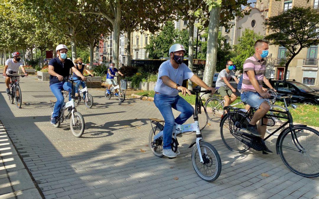 Pedalada tècnica per buscar solucions als problemes de mobilitat que troben els usuaris