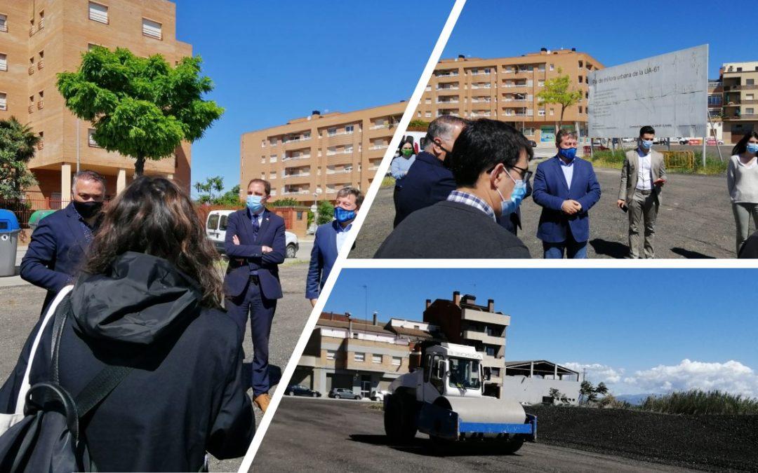 En marxa la millora de l'aparcament provisional del carrer Llibertat, al Secà