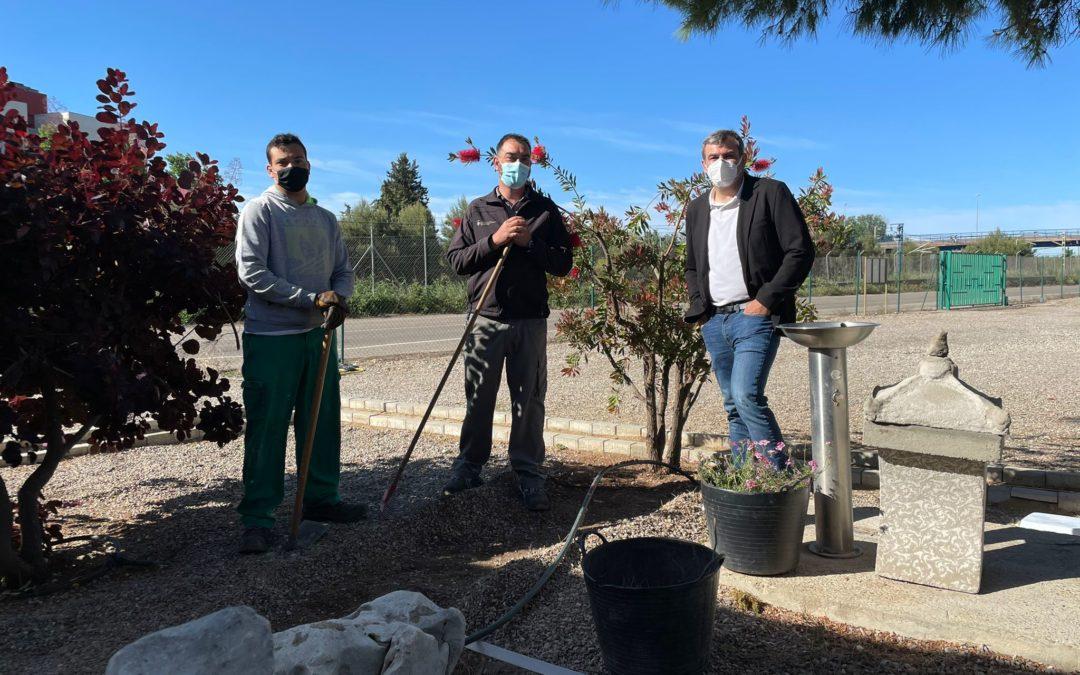 El regidor David Melé visita l'Escola de Jardineria i el Centre Especial de Treball
