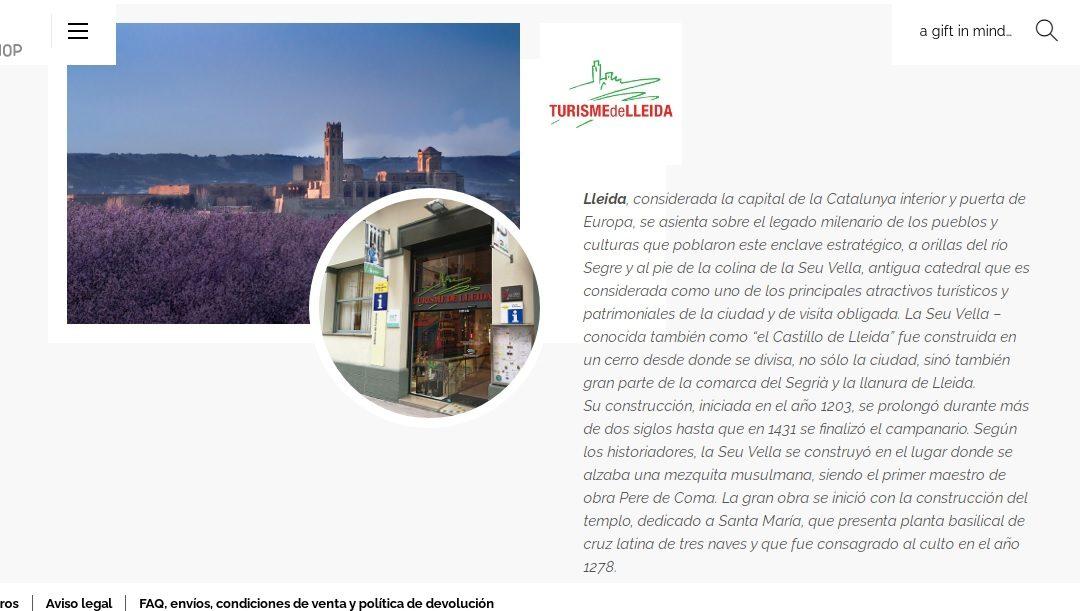 Turisme de Lleida ja disposa de botiga en línia
