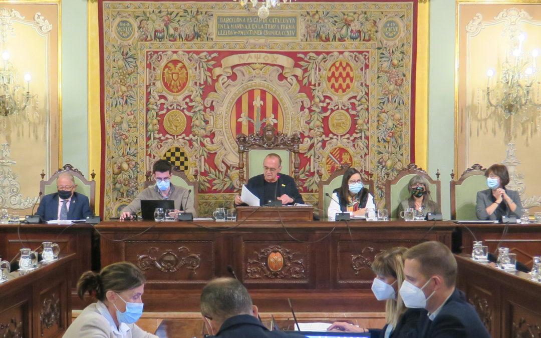 El Ple de la Paeria aprova les ordenances fiscals del 2022, compromeses amb la ciutadana