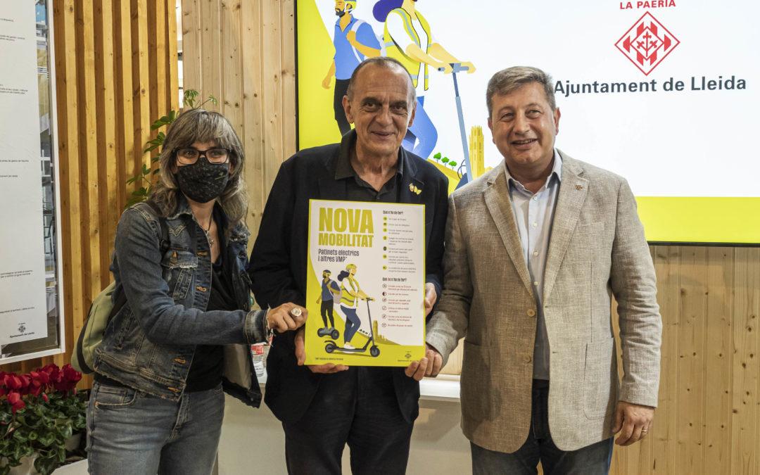 """La Paeria endega la campanya informativa """"Nova Mobilitat"""" per a promoure el bon ús dels Vehicles de Mobilitat Personal a Lleida"""
